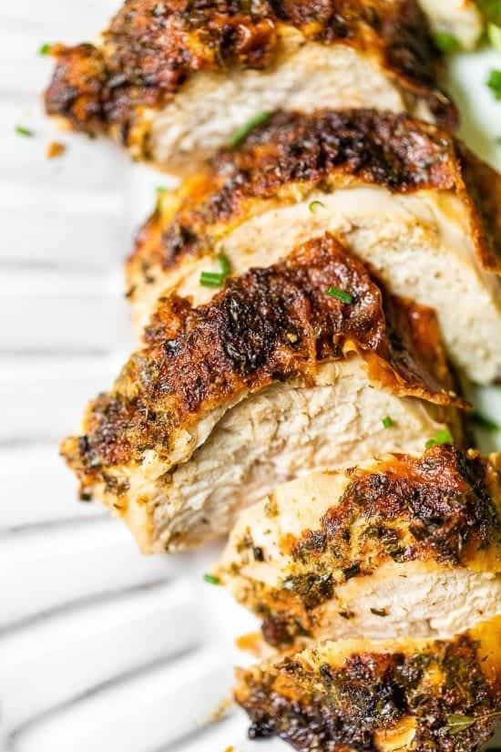 Air Fryer Herbed Buttermilk Roast Chicken Breast