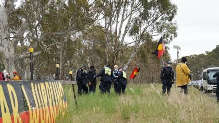 Victorian Supreme Court order puts Western Highway works on hold after felling of tree on Djab Wurrung country : australia